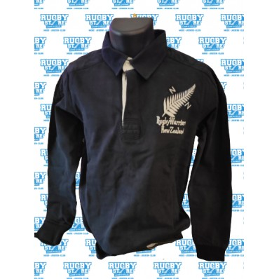 polo enfant NZ Rugby Warriors noir